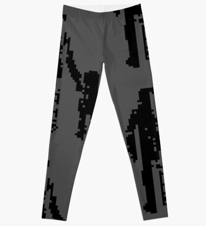 1 bit pixel pedestrians (black) Leggings