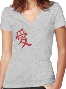 Gaara's Love Tattoo Women's Fitted V-Neck T-Shirt