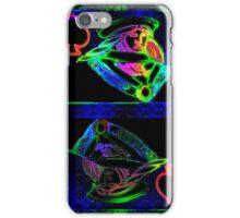 Double Neon Queen of Spades iPhone Case/Skin