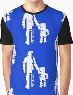 1 bit pixel pedestrians (white) Graphic T-Shirt