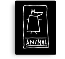 Animal (outline white) Canvas Print