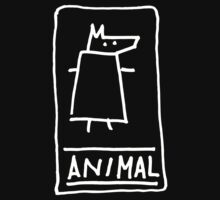 Animal (outline white) One Piece - Short Sleeve