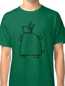 The green rabbit (outline black) Classic T-Shirt