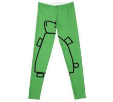 The green rabbit (outline black) Leggings