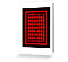 Black and Red Pattern Greeting Card