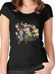 SALUT LES GEEKS Women's Fitted Scoop T-Shirt