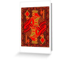 Tricolor King of Diamonds Greeting Card