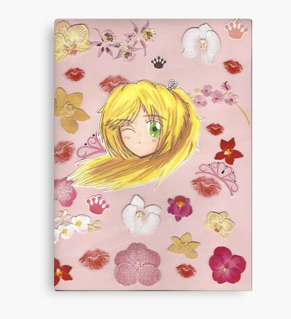 Chibi Ran Orchid Collage  Canvas Print