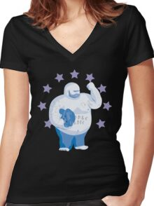 Cuddle For Life Women's Fitted V-Neck T-Shirt