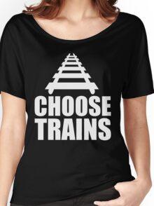 Choose Trains Trainspotter T Shirt Women's Relaxed Fit T-Shirt