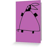Kirjais bird (outline black) Greeting Card