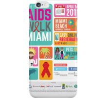 Aids Walk Miami 2016 iPhone Case/Skin