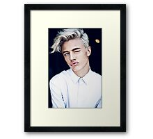 Lucky Blue Smith - Kiss (Color) Framed Print