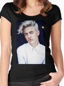 Lucky Blue Smith - Kiss (Color) Women's Fitted Scoop T-Shirt