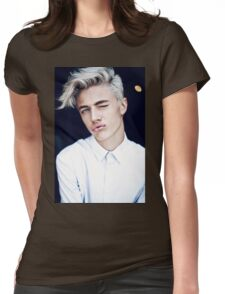 Lucky Blue Smith - Kiss (Color) Womens Fitted T-Shirt