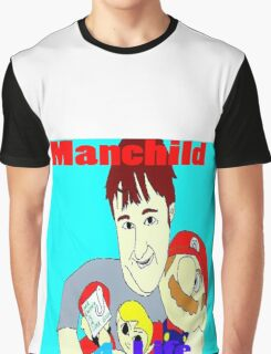 Manchild 4 Life Cartoony Version Graphic T-Shirt