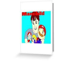 Manchild 4 Life Cartoony Version Greeting Card