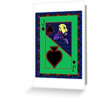 Solarized Jack of Spades Greeting Card