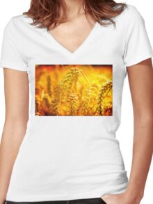 Bread of Life Women's Fitted V-Neck T-Shirt