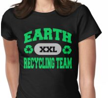 Earth Day Recycling Team Womens Fitted T-Shirt