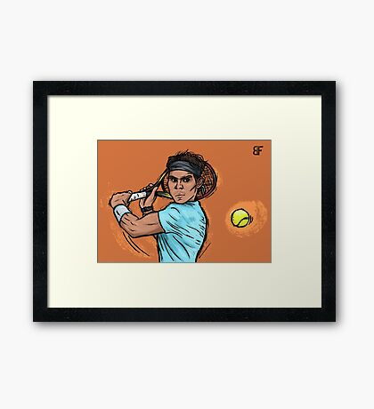 King of clay Framed Print