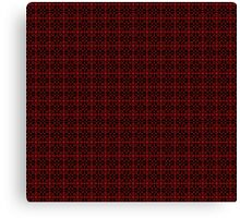Red and Black Grid Pattern Canvas Print