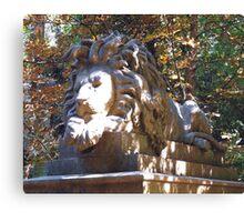 Highgate Cemetery Nero the Lion Canvas Print