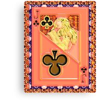 Art Gloss Jack of Clubs Canvas Print