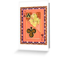 Art Gloss Jack of Clubs Greeting Card