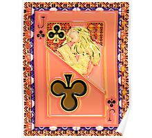 Art Gloss Jack of Clubs Poster