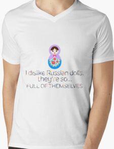 Russian Doll Pun Mens V-Neck T-Shirt