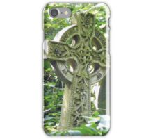 Highgate Cemetery Celtic Cross iPhone Case/Skin