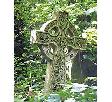Highgate Cemetery Celtic Cross Photographic Print