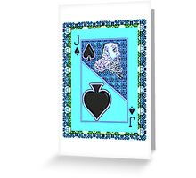 Art Gloss Jack of Spades Greeting Card
