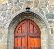 Woodstock Vermont, Church Doors Sticker