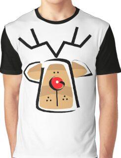 Christmas Reindeer T-Shirt Graphic T-Shirt