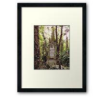 Highgate Cemetery Mears Memorial Framed Print