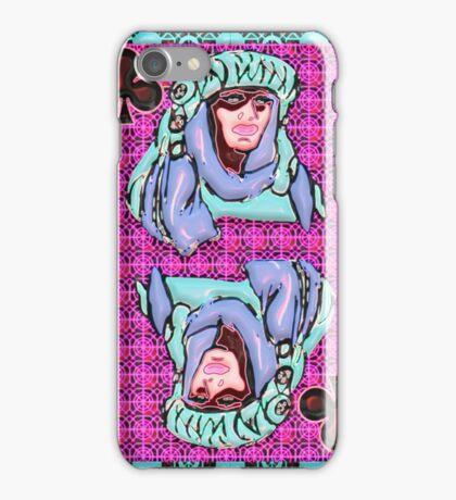 Art Gloss Queen of Clubs iPhone Case/Skin