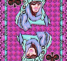 Art Gloss Queen of Clubs by ronmockjunior