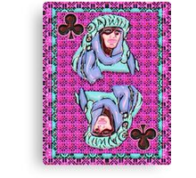 Art Gloss Queen of Clubs Canvas Print