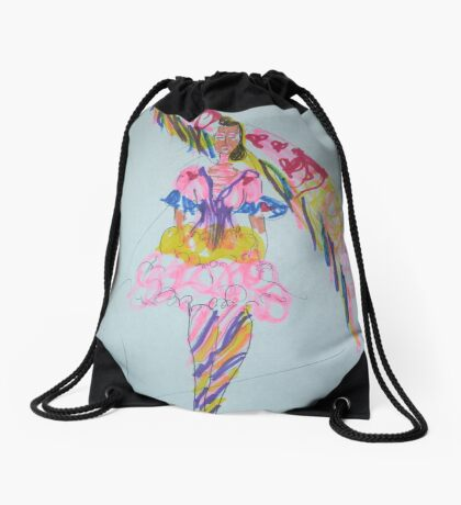 Fashion wonder woman Drawstring Bag