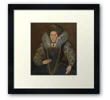 English School, late 16th century PORTRAIT OF KING HENRY VIII, BUST-LENGTH Framed Print