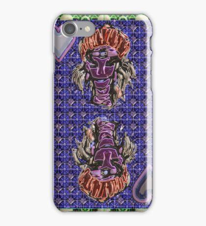 Art Gloss Queen of Hearts Blue Purple iPhone Case/Skin