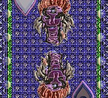 Art Gloss Queen of Hearts Blue Purple by ronmockjunior