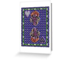 Art Gloss Queen of Hearts Blue Purple Greeting Card