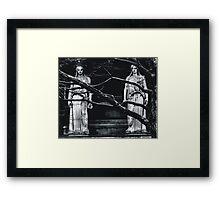 Gothic Angel Statue Framed Print