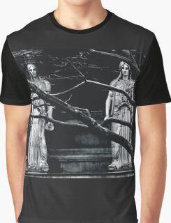 Gothic Angel Statue Graphic T-Shirt