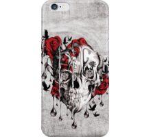 Melt down, grunge rose skull iPhone Case/Skin