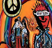 Peace Under the Rainbow Decopollage 2016 by Maureen Zaharie