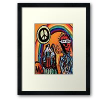 Peace Under the Rainbow Decopollage 2016 Framed Print